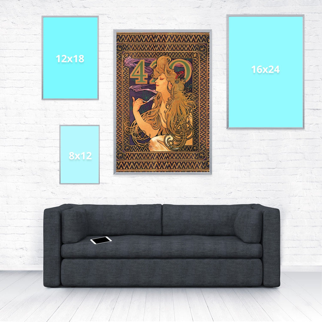 420 Mucha Poster-Shelfies-20 x 30-| All-Over-Print Everywhere - Designed to Make You Smile