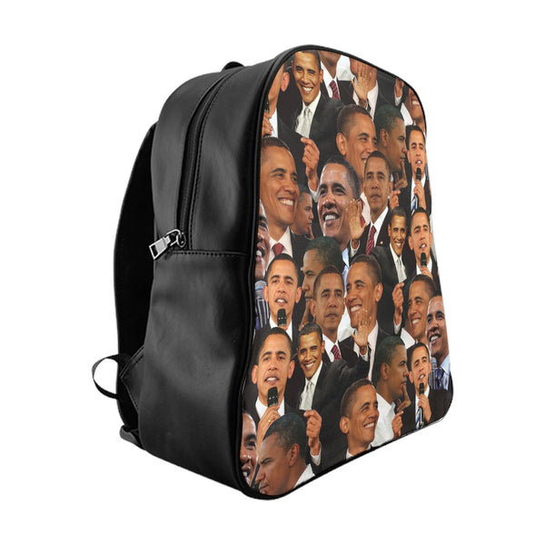 Barack Obama Face Backpack-Printify-Large-| All-Over-Print Everywhere - Designed to Make You Smile