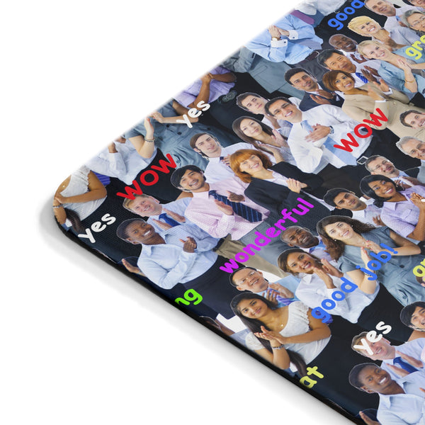 Happy Business Mousepad-Printify-Rectangle-| All-Over-Print Everywhere - Designed to Make You Smile
