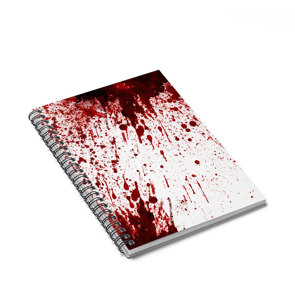 Blood Splatter Spiral Notebook-Printify-Spiral Notebook-| All-Over-Print Everywhere - Designed to Make You Smile