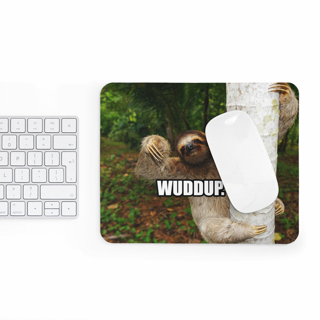 Wuddup Sloth Mousepad-Printify-Rectangle-| All-Over-Print Everywhere - Designed to Make You Smile