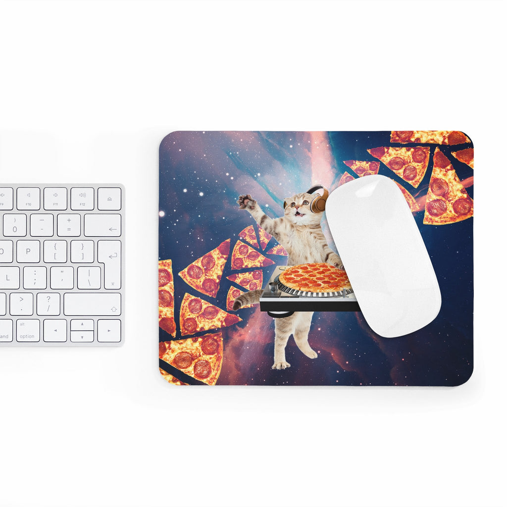 DJ Pizza Cat Mousepad-Printify-Rectangle-| All-Over-Print Everywhere - Designed to Make You Smile