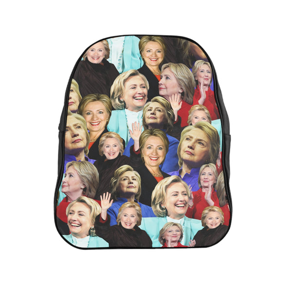 Hillary Clinton Face Backpack-Printify-Large-| All-Over-Print Everywhere - Designed to Make You Smile