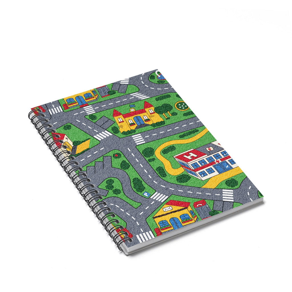 Carpet Track Spiral Notebook-Printify-Spiral Notebook-| All-Over-Print Everywhere - Designed to Make You Smile