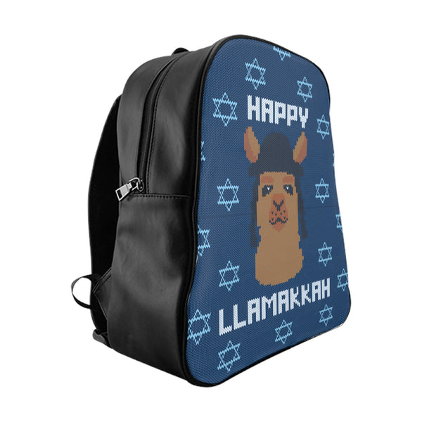 Happy Llamakkah Backpack-Printify-Large-| All-Over-Print Everywhere - Designed to Make You Smile