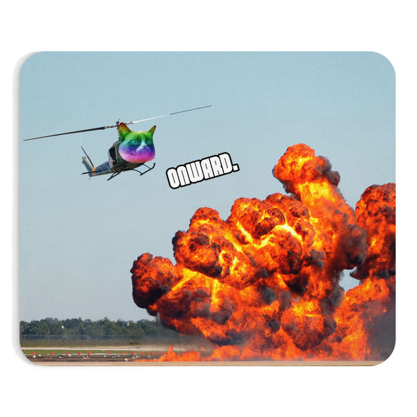 Cat Copter Mousepad-Printify-Rectangle-| All-Over-Print Everywhere - Designed to Make You Smile