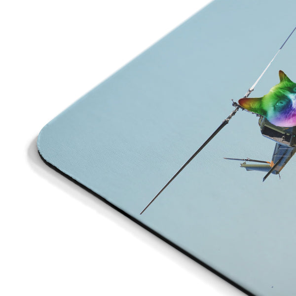 Cat Copter Mousepad-Printify-| All-Over-Print Everywhere - Designed to Make You Smile
