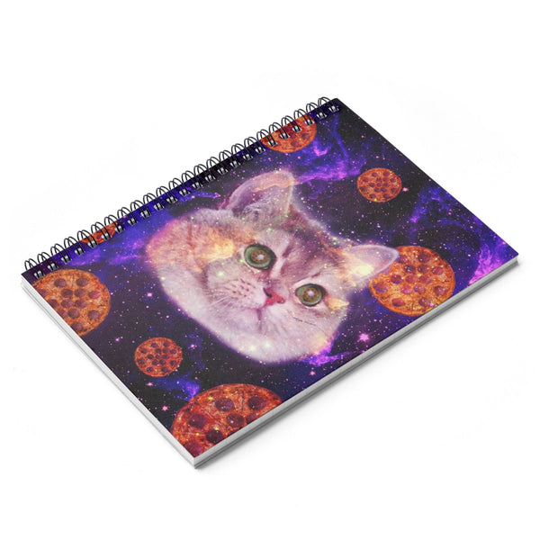 Heavy Breathing Cat Pizza Spiral Notebook-Printify-| All-Over-Print Everywhere - Designed to Make You Smile
