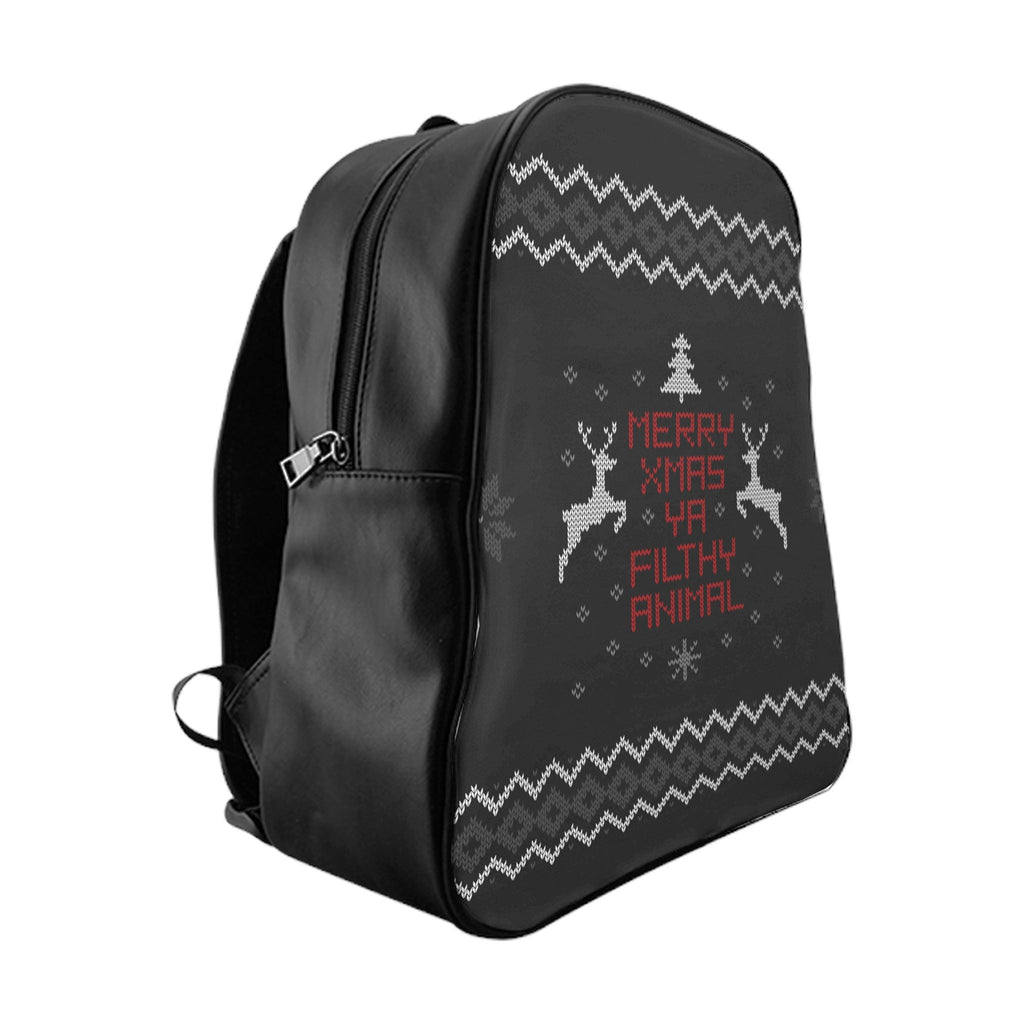 Merry Xmas Ya Filthy Animal Backpack-Printify-Large-| All-Over-Print Everywhere - Designed to Make You Smile