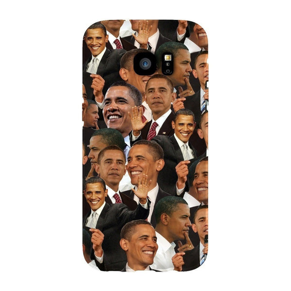 Barack Obama Face Smartphone Case-Gooten-Samsung S7 Edge-| All-Over-Print Everywhere - Designed to Make You Smile
