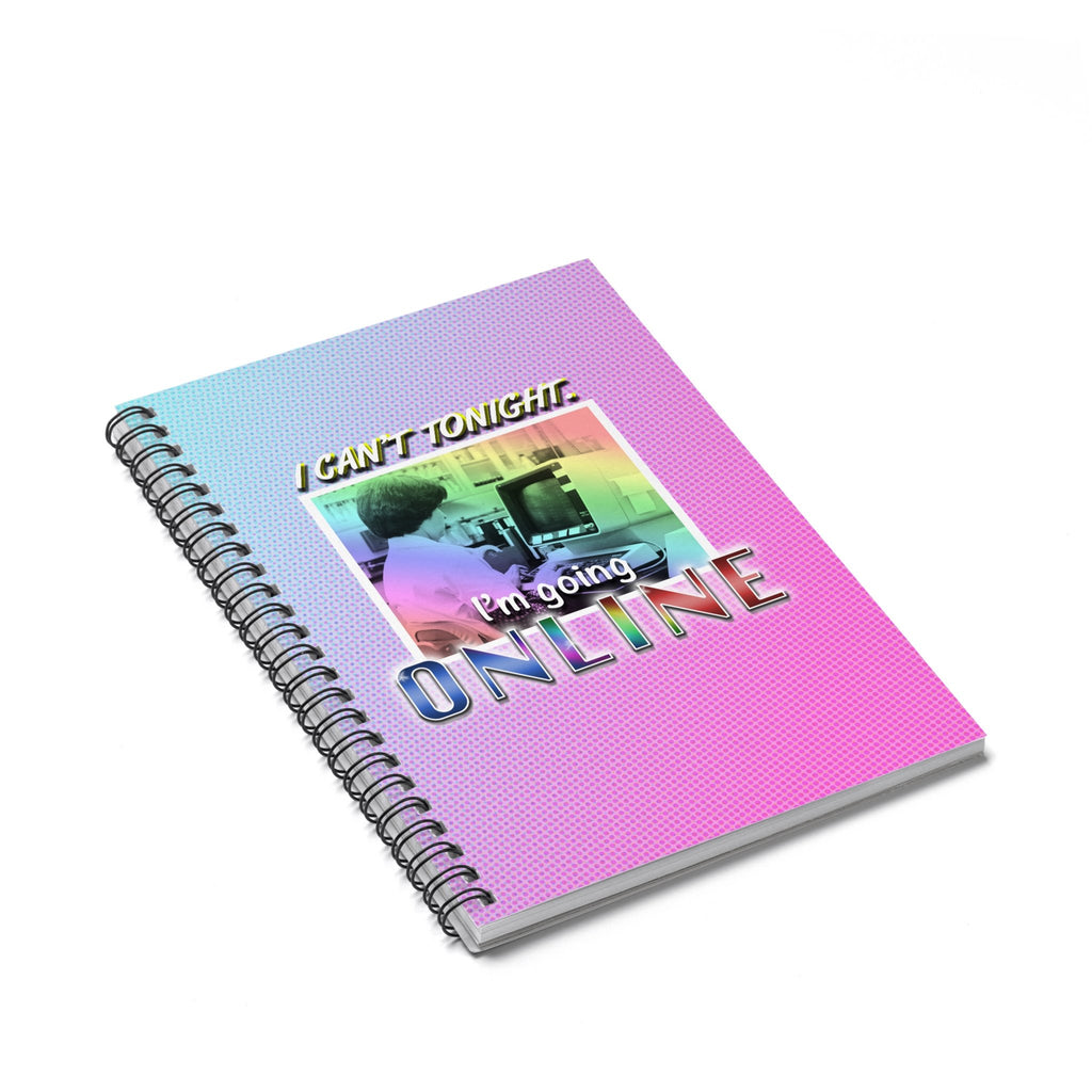 Online Tonight Spiral Notebook-Printify-Spiral Notebook-| All-Over-Print Everywhere - Designed to Make You Smile