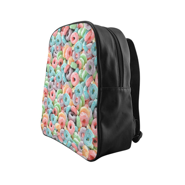 Cereal Invasion Backpack-Printify-Large-| All-Over-Print Everywhere - Designed to Make You Smile