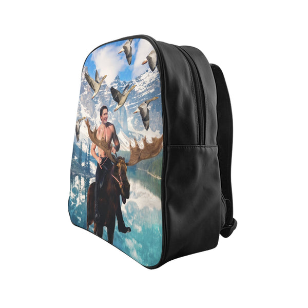 Moosin Trudeau Backpack-Printify-Large-| All-Over-Print Everywhere - Designed to Make You Smile