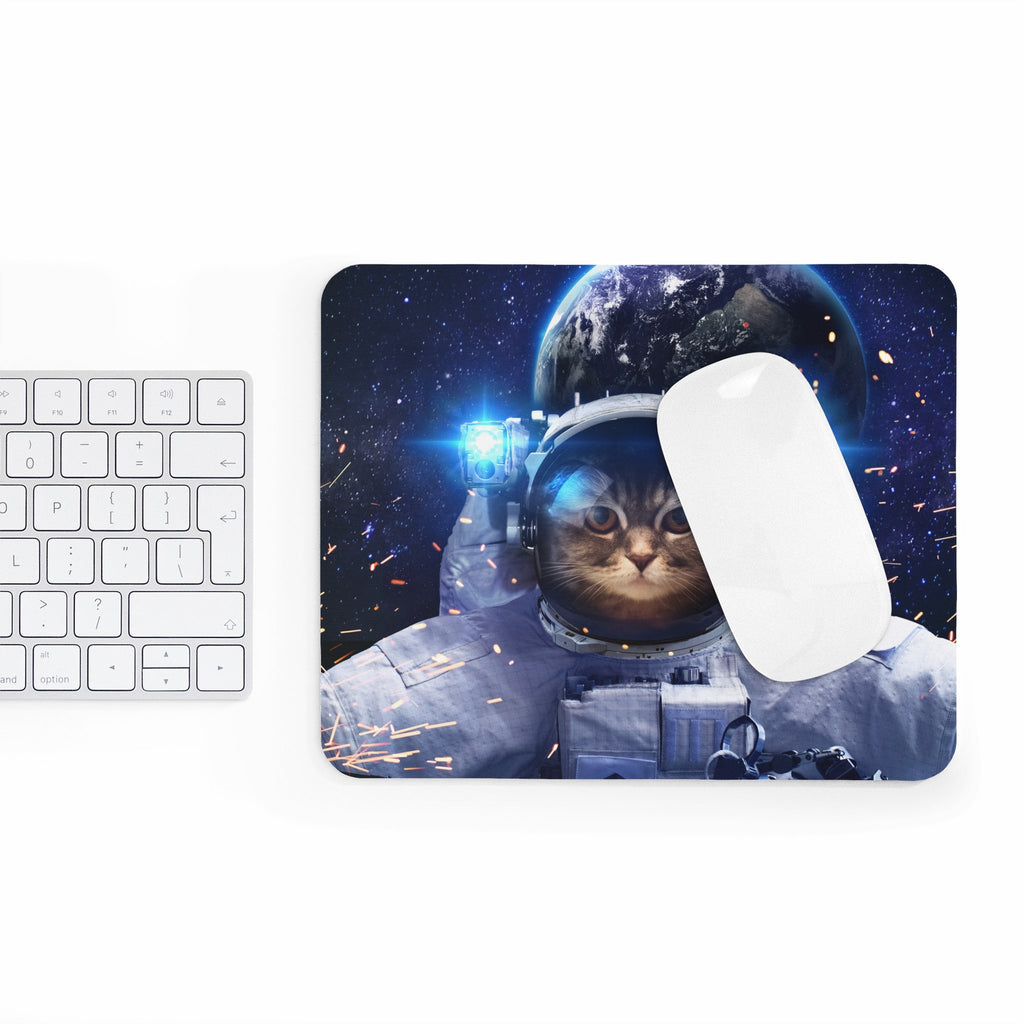 Astronaut Cat Mousepad-Printify-Rectangle-| All-Over-Print Everywhere - Designed to Make You Smile