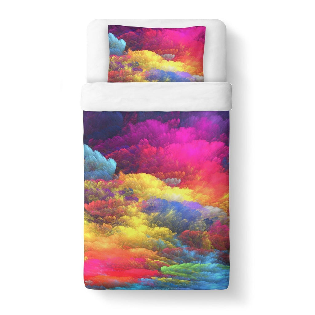 Abstract Colors Duvet Cover-Gooten-Twin-| All-Over-Print Everywhere - Designed to Make You Smile