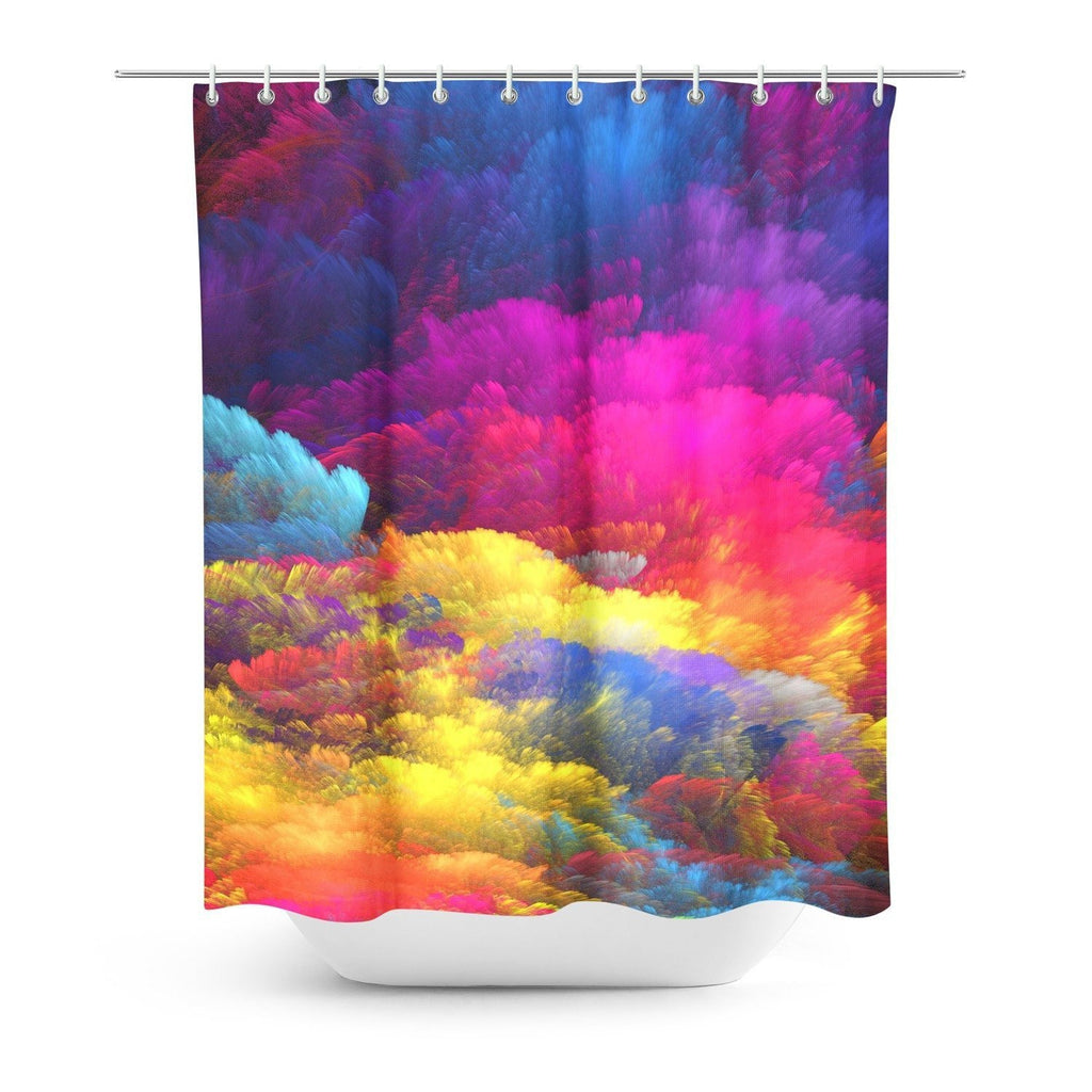 abstract colors shower curtain gooten one size all over print - Colorful Shower Curtains