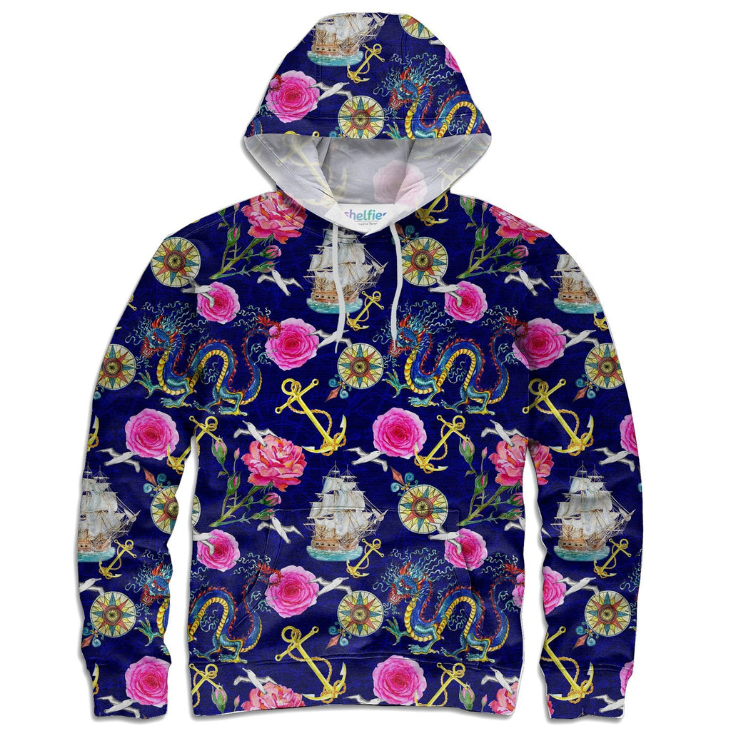 At Sea Hoodie-Shelfies-| All-Over-Print Everywhere - Designed to Make You Smile