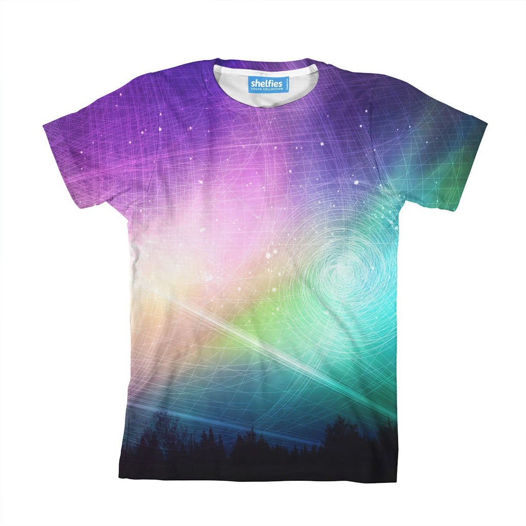 Aurora Borealis Youth T-Shirt-kite.ly-| All-Over-Print Everywhere - Designed to Make You Smile