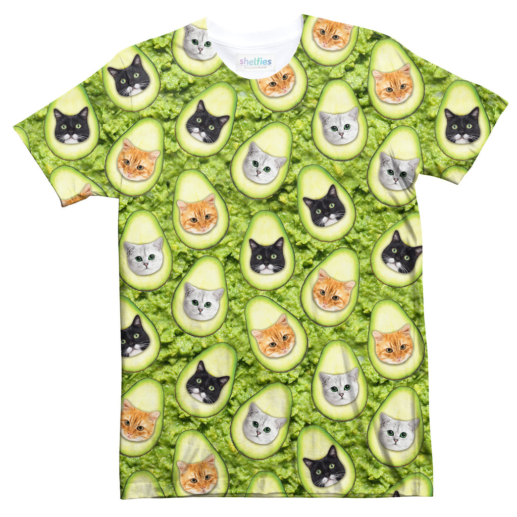 Avo-cat-o Invasion T-Shirt-Subliminator-| All-Over-Print Everywhere - Designed to Make You Smile