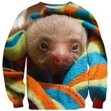 Baby Sloth Sweater-Shelfies-| All-Over-Print Everywhere - Designed to Make You Smile