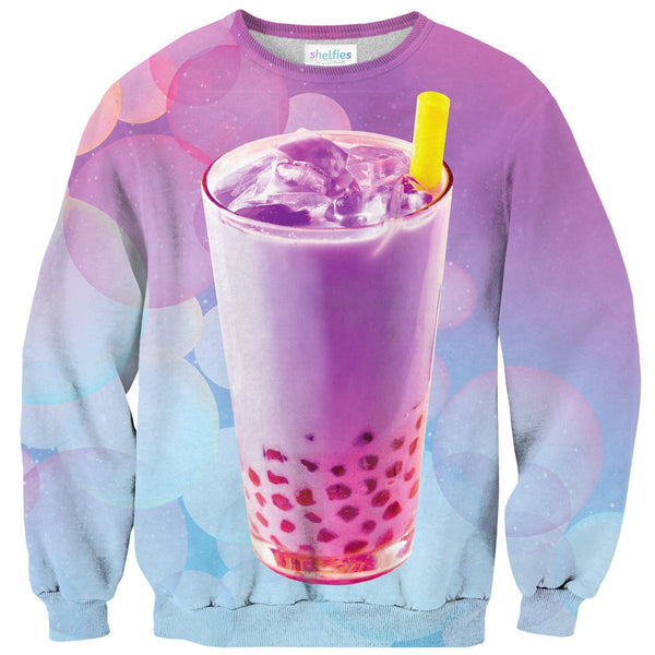 Bubble Tea Sweater-Shelfies-| All-Over-Print Everywhere - Designed to Make You Smile