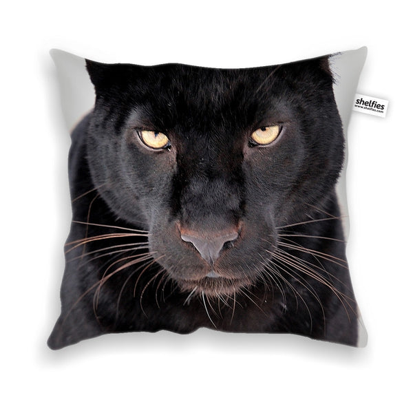 Black Leopard Face Throw Pillow Case-Shelfies-| All-Over-Print Everywhere - Designed to Make You Smile