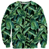 Banana Leaves Sweater-Shelfies-| All-Over-Print Everywhere - Designed to Make You Smile