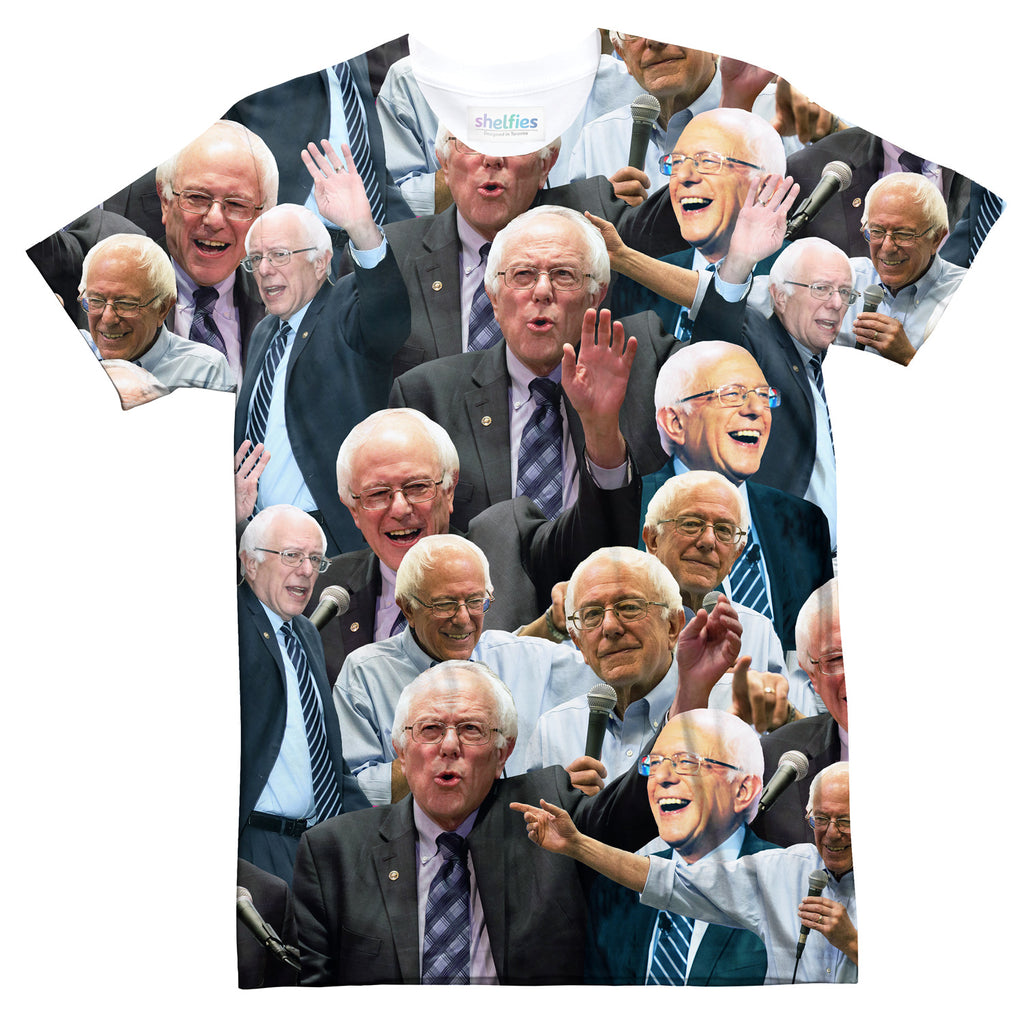 Bernie Sanders Face T-Shirt-Subliminator-| All-Over-Print Everywhere - Designed to Make You Smile