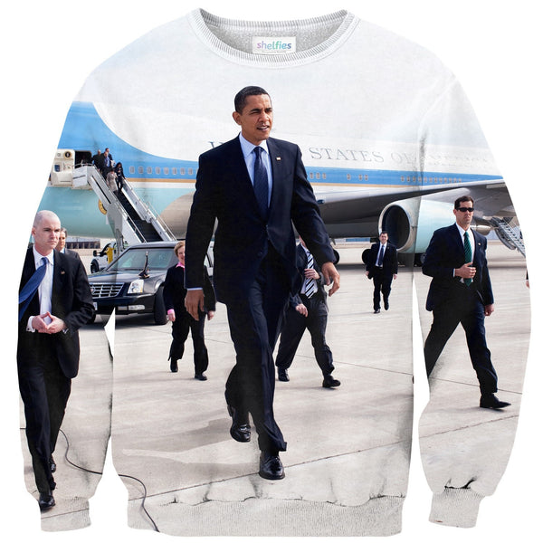 Big Obama Sweater-Shelfies-| All-Over-Print Everywhere - Designed to Make You Smile