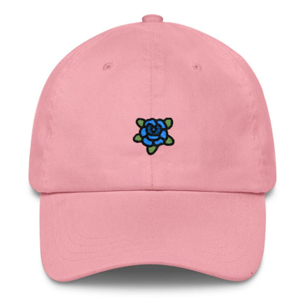 Blue Rose Dad Hat-Shelfies-Pink-| All-Over-Print Everywhere - Designed to Make You Smile