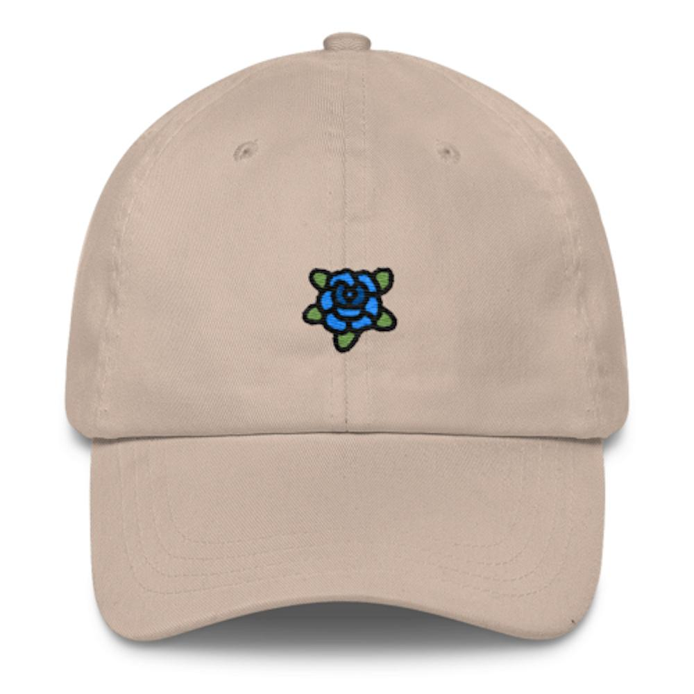 Blue Rose Dad Hat-Shelfies-Beige- fc600d4c703