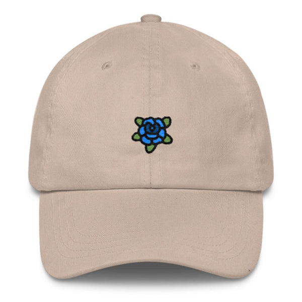 Blue Rose Dad Hat-Shelfies-Beige-| All-Over-Print Everywhere - Designed to Make You Smile