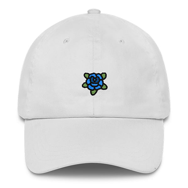 Blue Rose Dad Hat-Shelfies-White-| All-Over-Print Everywhere - Designed to Make You Smile
