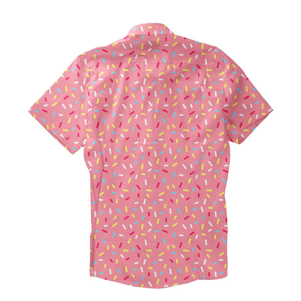 Cartoon Sprinkles Short-Sleeve Button Down Shirt-Shelfies-| All-Over-Print Everywhere - Designed to Make You Smile