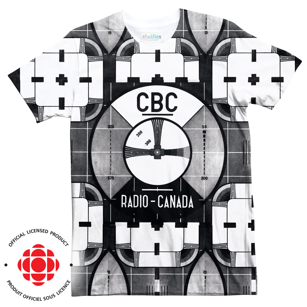 CBC Test Pattern T-Shirt-Subliminator-| All-Over-Print Everywhere - Designed to Make You Smile