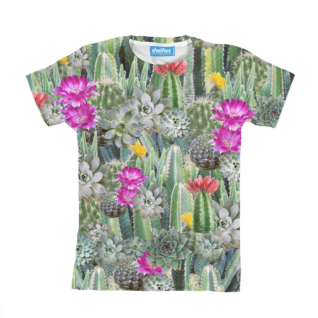 Cacti Invasion Youth T-Shirt-kite.ly-| All-Over-Print Everywhere - Designed to Make You Smile