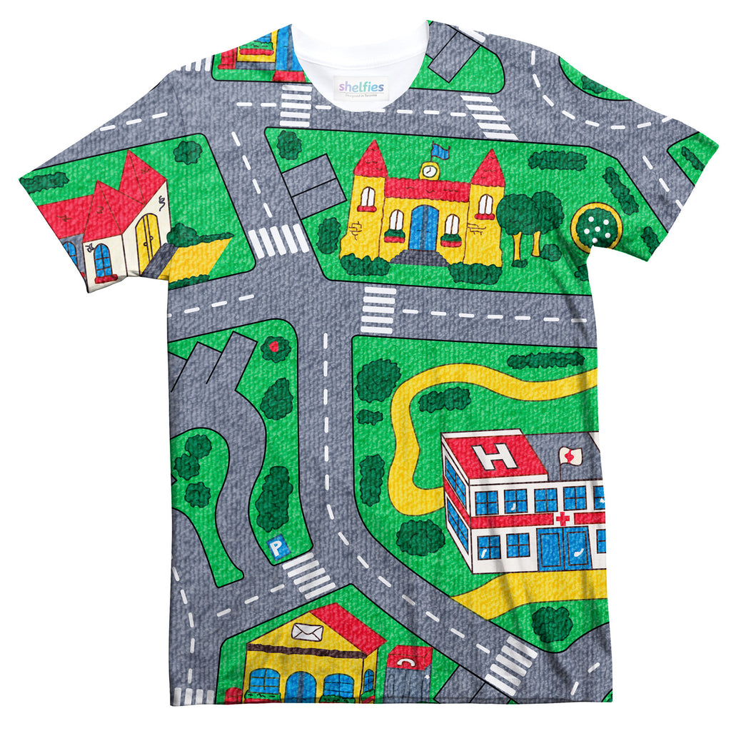 Carpet Track T-Shirt-Subliminator-| All-Over-Print Everywhere - Designed to Make You Smile