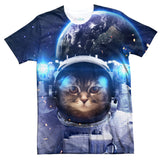 Astronaut Cat T-Shirt-Subliminator-| All-Over-Print Everywhere - Designed to Make You Smile