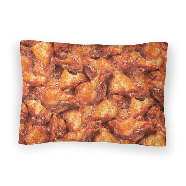 Chicken Wings Invasion Bed Pillow Case-Shelfies-| All-Over-Print Everywhere - Designed to Make You Smile