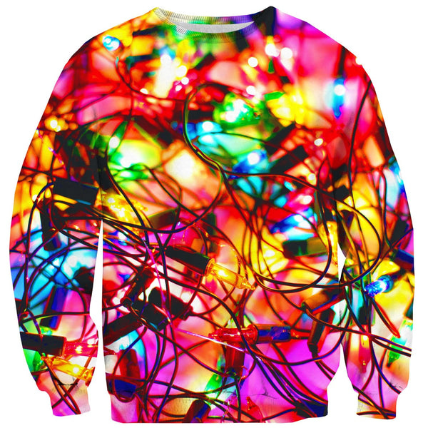 Christmas Lights Sweater-Shelfies-| All-Over-Print Everywhere - Designed to Make You Smile