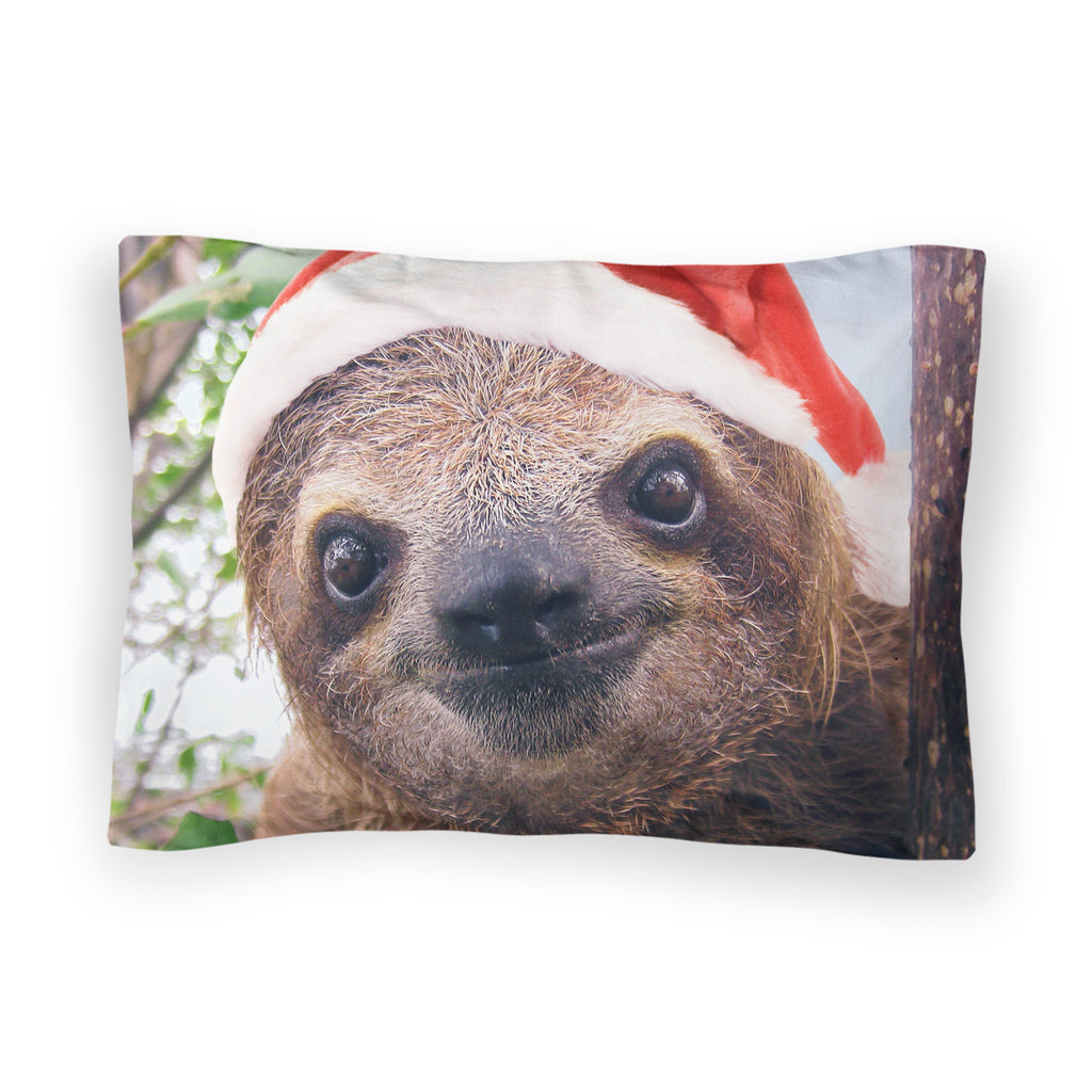 Christmas Sloth Bed Pillow Case-Shelfies-| All-Over-Print Everywhere - Designed to Make You Smile