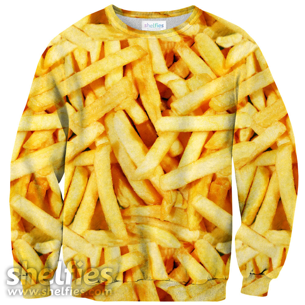 French Fries Invasion Sweater-Subliminator-| All-Over-Print Everywhere - Designed to Make You Smile