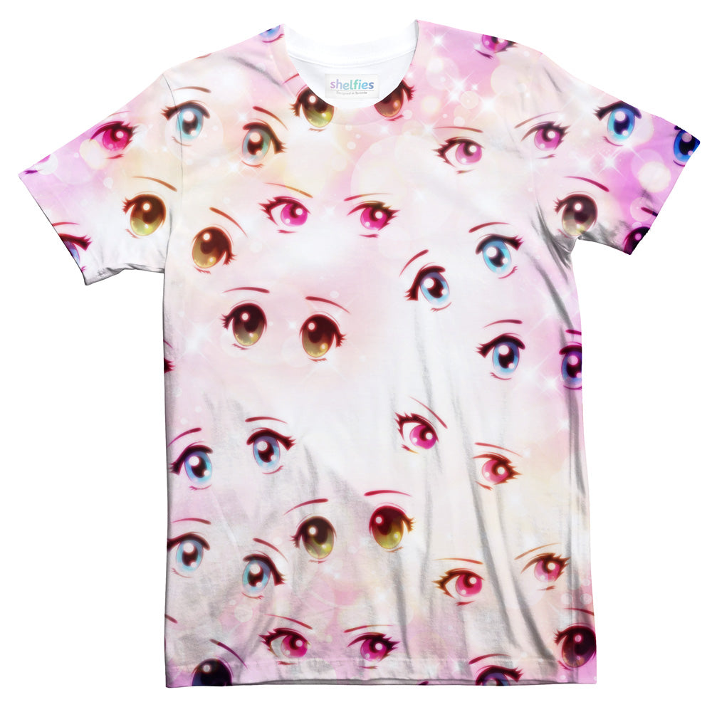 Anime Eyes T-Shirt-Subliminator-| All-Over-Print Everywhere - Designed to Make You Smile
