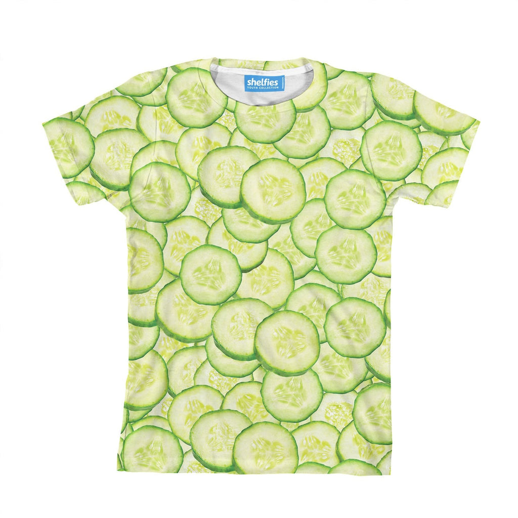 Cucumber Invasion Youth T-Shirt-kite.ly-| All-Over-Print Everywhere - Designed to Make You Smile