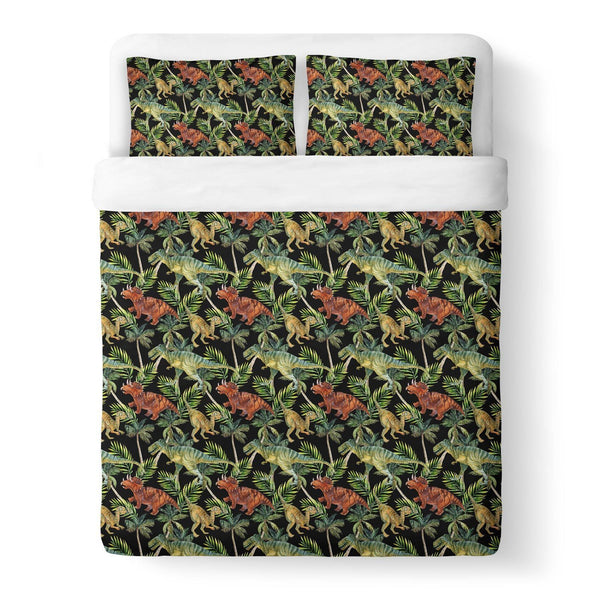 Dino Duvet Cover-Gooten-King-| All-Over-Print Everywhere - Designed to Make You Smile