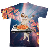 DJ Pizza Cat T-Shirt-Subliminator-| All-Over-Print Everywhere - Designed to Make You Smile
