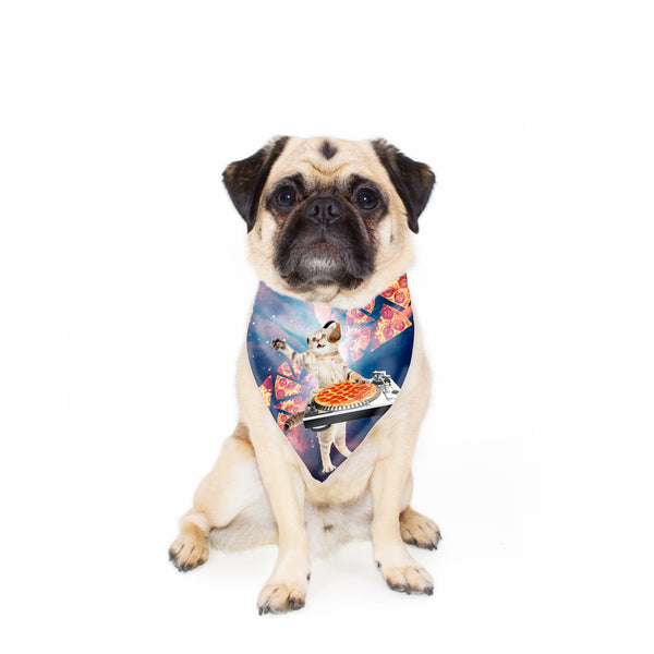 DJ Pizza Cat Pet Bandana-Gooten-24x24 inch-| All-Over-Print Everywhere - Designed to Make You Smile