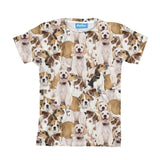 Doggy Invasion Youth T-Shirt-kite.ly-| All-Over-Print Everywhere - Designed to Make You Smile