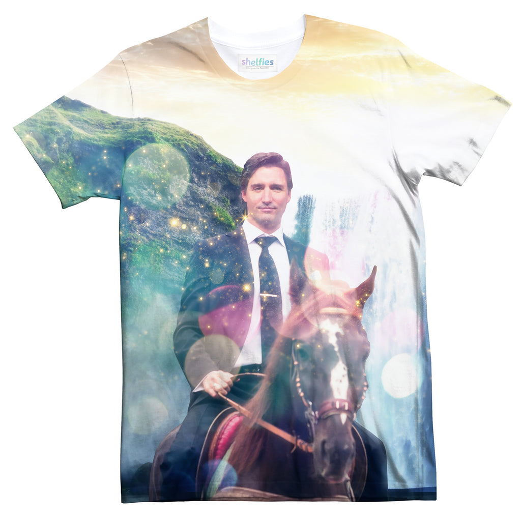 Dreamy Trudeau T-Shirt-Subliminator-| All-Over-Print Everywhere - Designed to Make You Smile