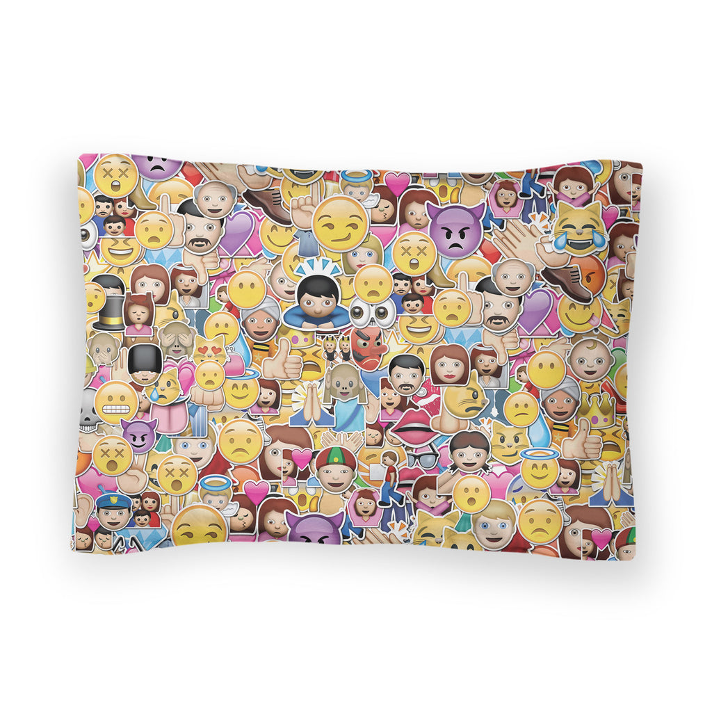 emoji invasion bed pillow everywhere